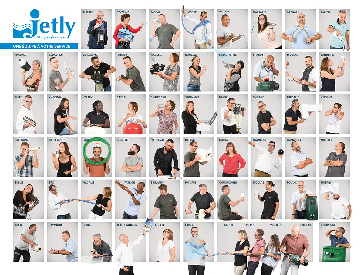 Trombinoscope de l'équipeJetly pour leur tarif 2020