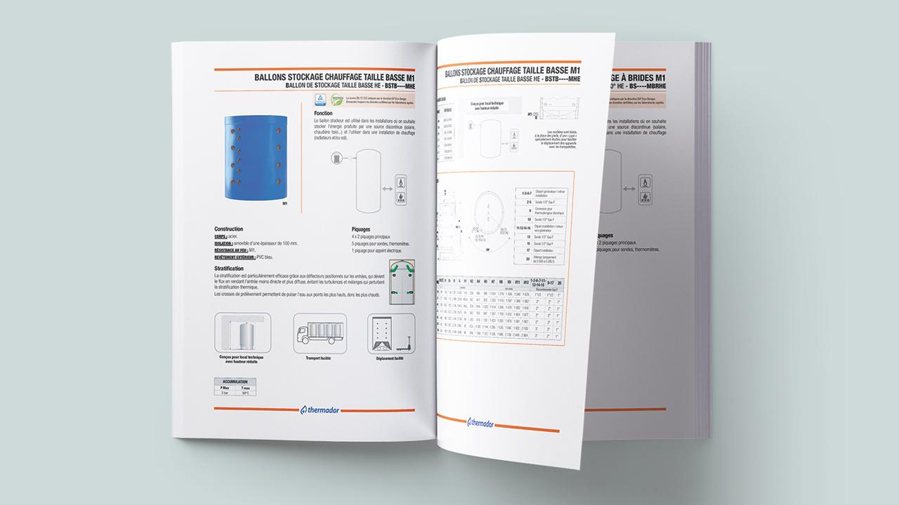 Catalogue prescription Thermador ouvert