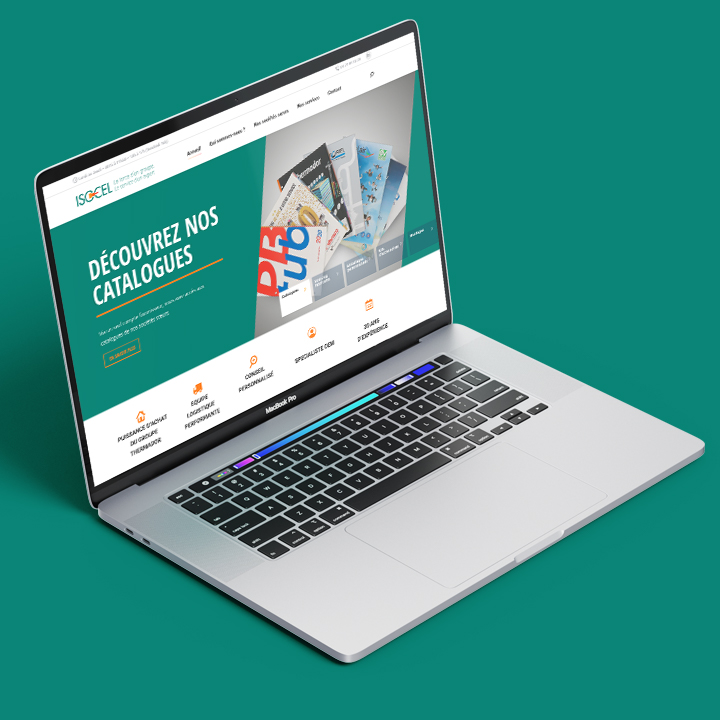 Site internet d'Isocel