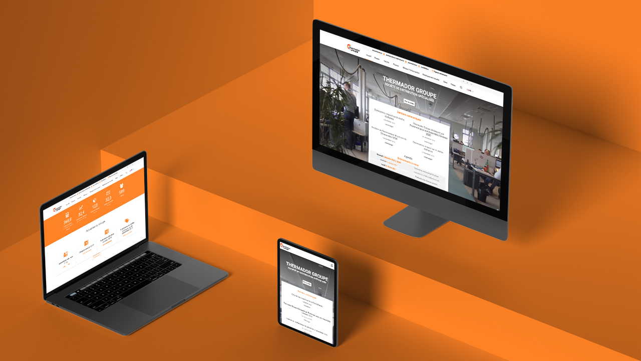 Site internet de Thermador Groupe