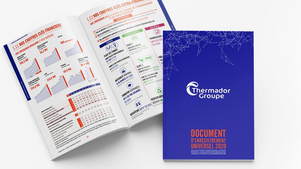 Couverture du Rapport Annuel 2020 de Thermador Groupe